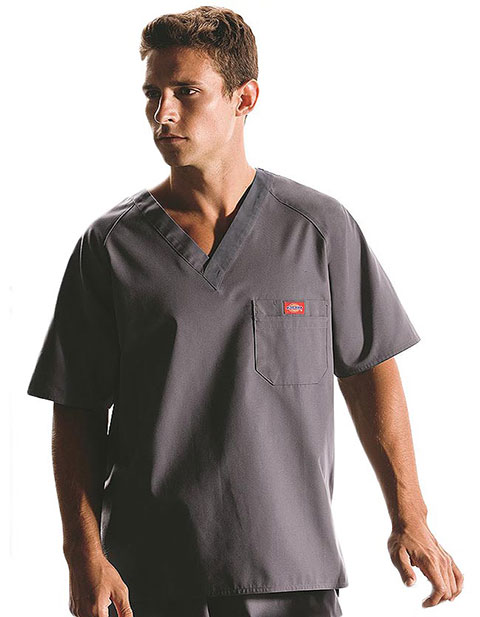 Dickies EDS Men Raglan Sleeved Solid Nurses Scrub Top