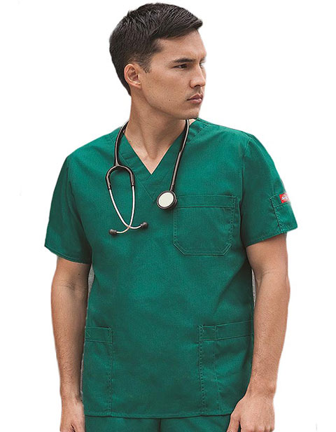 Dickies Mens Two Pocket Utility Nursing Scrub Top