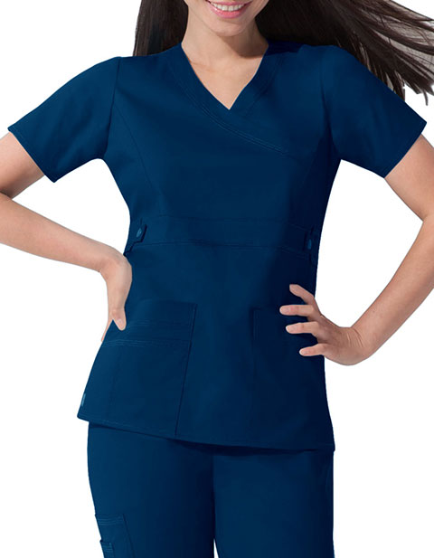 4b9e247b30e Dickies 817355 GenFlex Women's Mock Wrap Utility Scrub Top for ...