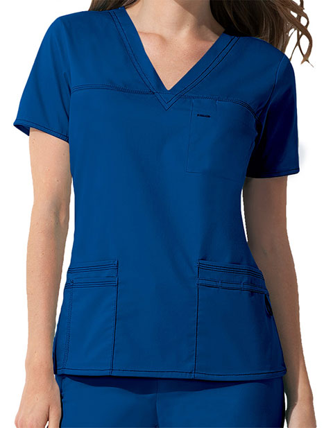 ad3db7485 Dickies 817455 GenFlex Women's V-neck Basic Scrub Top for $26.98 ...
