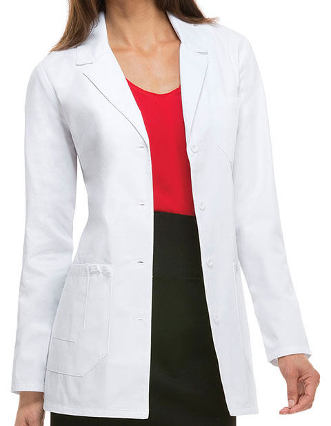 Dickies EDS Women White 30 inches Notch Lapel Lab Coat