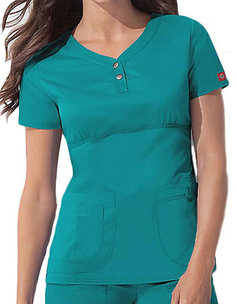 Dickies GenFlex Junior Multi-Pocket Empire Waist Scrub Top
