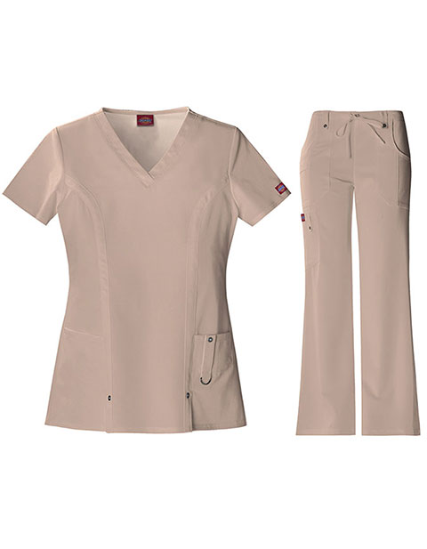 Dickies Xtreme Stretch Junior V-Neck Nursing Scrub Set