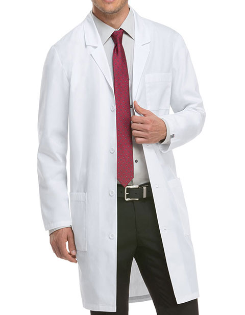 Dickies EDS Professional Whites Unisex Antimicrobial with Fluid Barrier 40 Inches Lab Coat