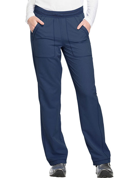 Dickies Dynamix Women's Mid Rise Straight Leg Pull-on Petite Pant