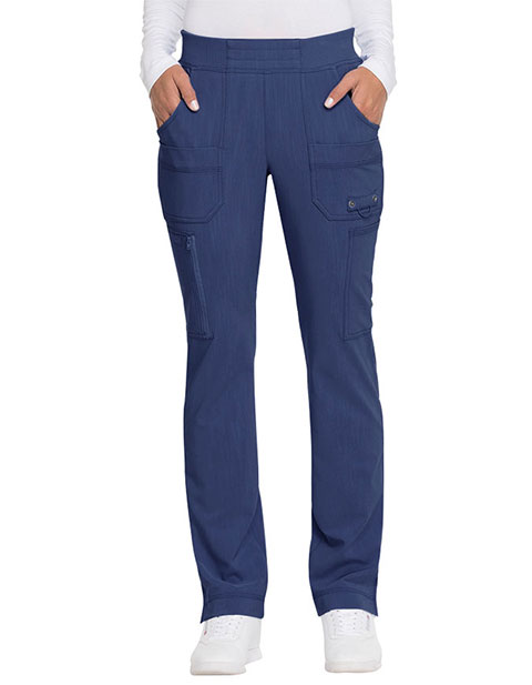 Dickies Advance Women's Mid Rise Tapered Leg Pull-on Petite Pant