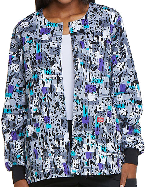 Dickies Women's Purr-fect Strokes Printed Warm-Up Jacket