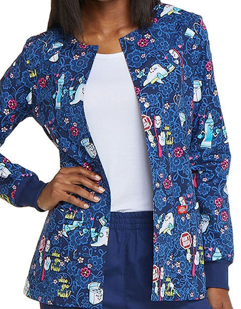 Dickies Women's Don't Rush Snap Front Printed Jacket