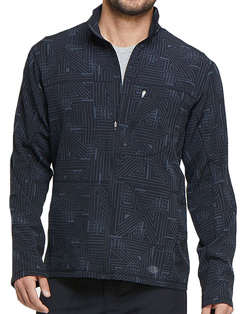 Dickies Men's Zip Front Labyrinth Printed Jacket
