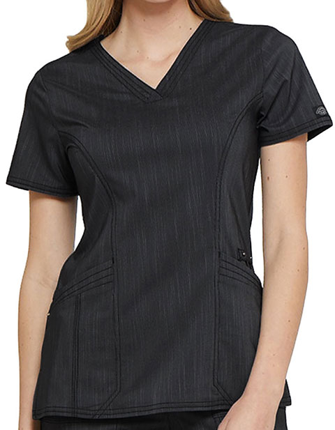 Dickies Advance Women's Fashion V-Neck Scrub Top