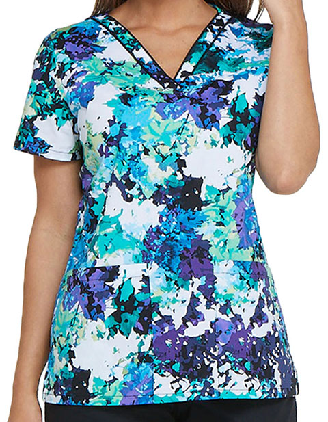 Dickies EDS Women's Take It Or Leaf It V-Neck Top