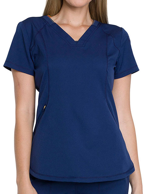 Dickies Dynamix Women's V-Neck Tuck-In Solid Scrub Top