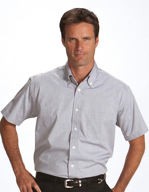 Men's Short Sleeve Pinpoint Oxford Shirt
