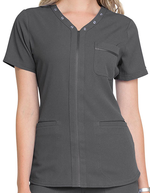 Elle Women's V-Neck Scrub Top