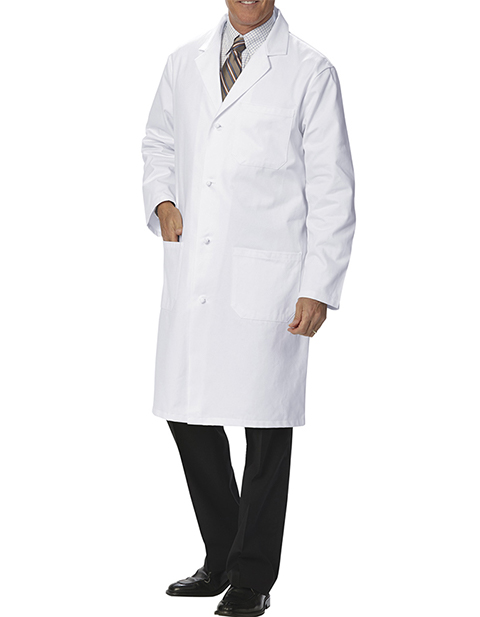 Fashion Seal Health Men's 41 Inch Knot Button Knee Length Lab Coat