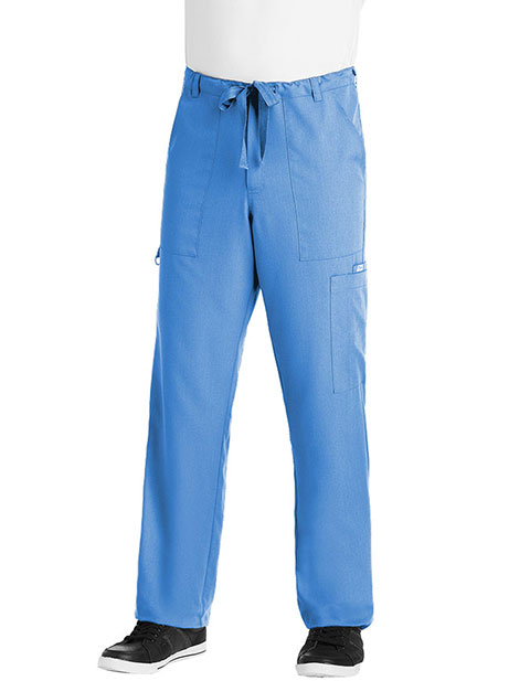 Grey's Anatomy Men's Zip Fly Drawstring Tall Medical Scrub Pants