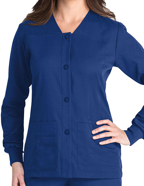 Grey's Anatomy 4-Pocket Sporty Warm-up Scrub Jacket