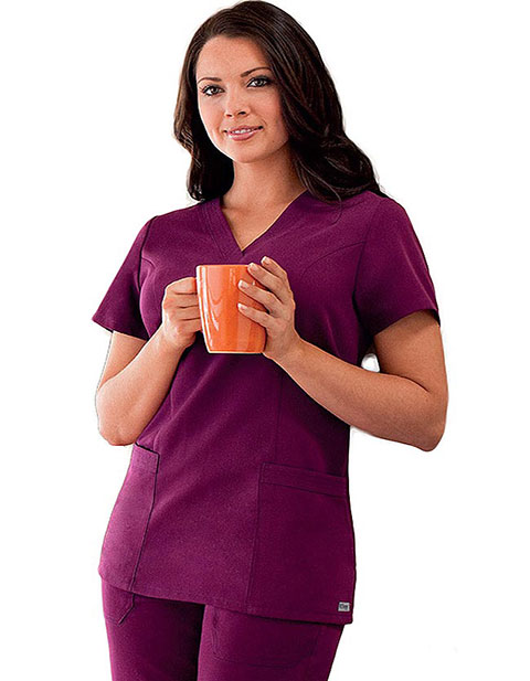 Grey's Anatomy Missy Fit V-Neck Nurses Scrub Top