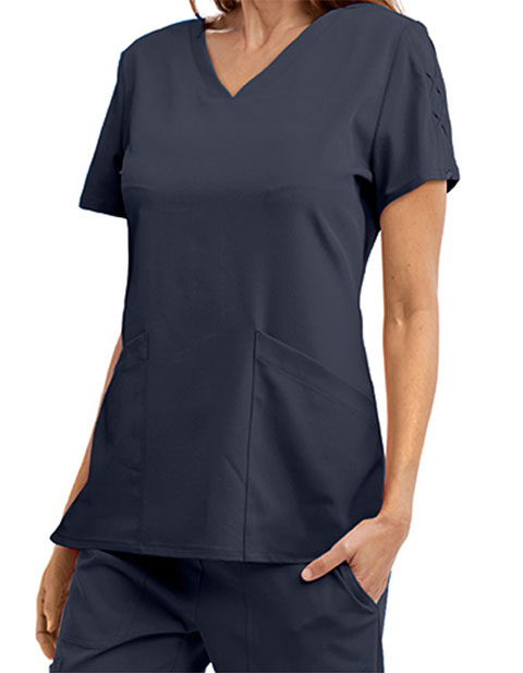 Grey's Anatomy Signature Women's Lace Sleeve Scrub Top