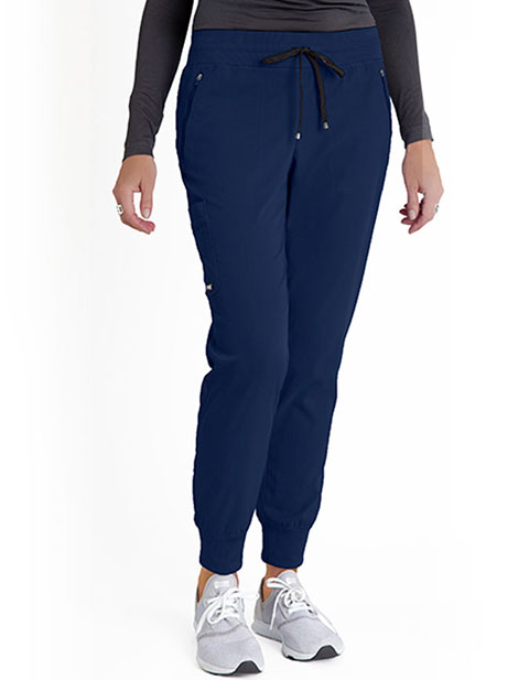Grey's Anatomy Spandex Stretch Women's Soft Rib Waist Jogger Scrub Pant