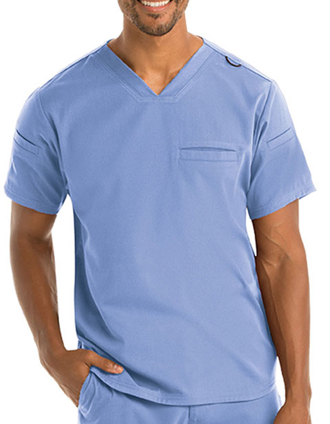 Grey Anatomy Spandex Men's Stretch V-Neck Scrub Tops