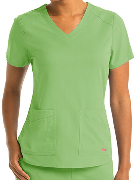 Grey Anatomy Spandex Stretch Women's V-Neck Scrub Top
