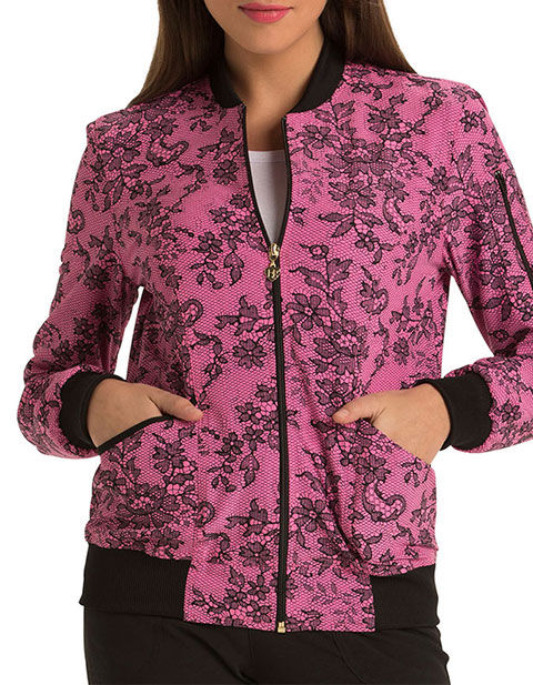 HeartSoul Sugar Fix Women's Zip Front Bomber Jacket