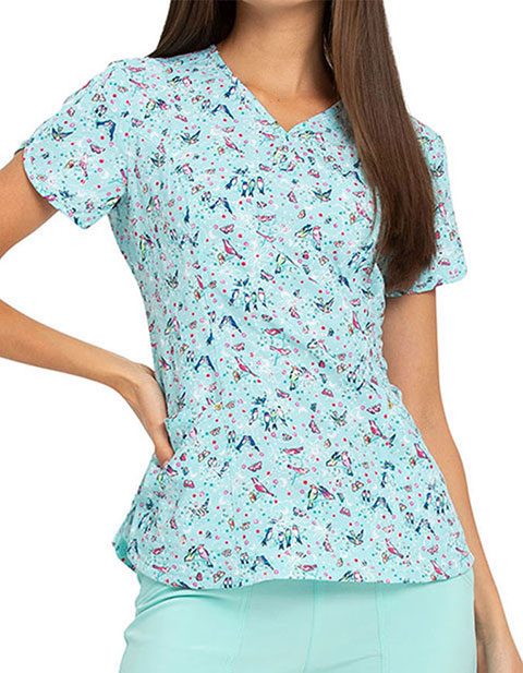 HeartSoul Women's My Tweet Heart Print V-Neck Top