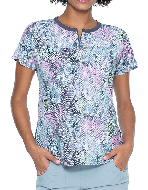 HeartSoul Women's Sweet Hisses Print Round Neck Tuck-in Top