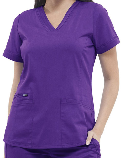 Healing Hands Purple Label Women's V-neck Jasmin Top