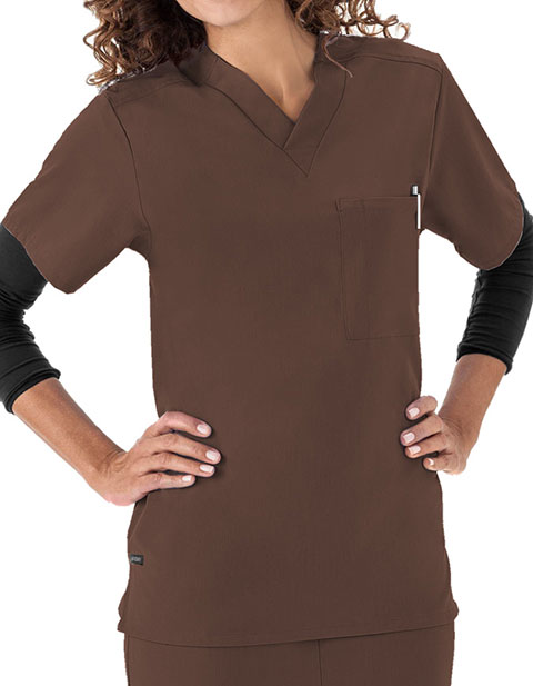Jockey Scrubs Unisex Single Pocket V-Neck Nurses Top
