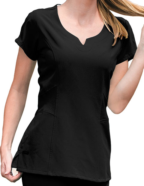 Jockey Scrubs Women Notched Neck Scrub Top