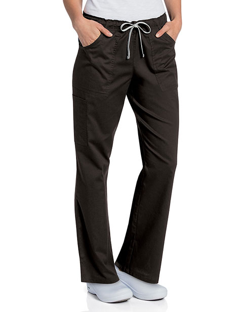 Landau Womens All Day Full Elastic Cargo Scrub Tall Pant