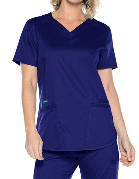 Landau Proflex Women's Fashion Solid Scrub Top