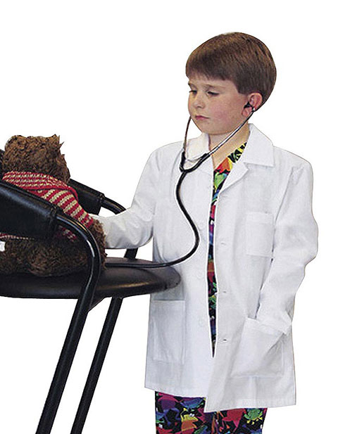 Landau Child Size Three Pocket White Lab Coat