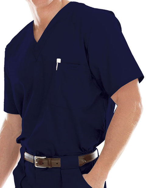 Landau Platinum Men's Single Pocket Vented Solid Nurse Scrub Top