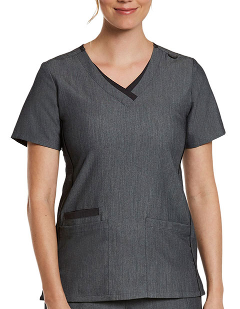 Maevn Matrix Pro Women's Contrast Double V-Neck Top