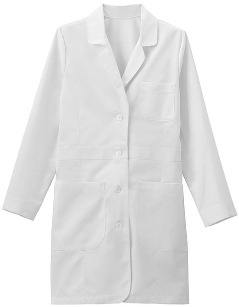 Meta Women's 35 Inch Twill Trench Style Lab Coat