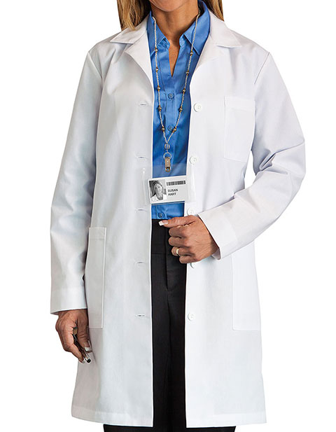 Meta Women 37 Inches Five-Pocket Medical Lab Coat