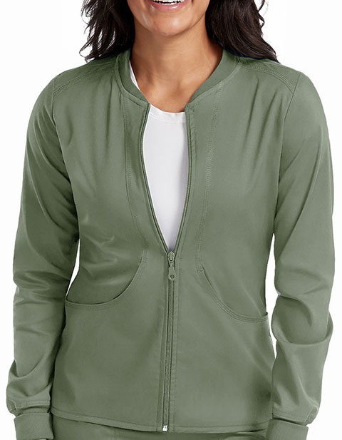Med Couture Touch Women's Zip-Front Warm Up