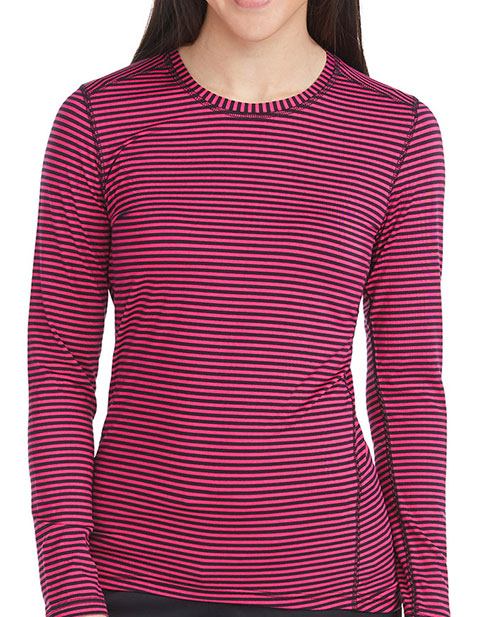 Med Couture Activate Women's Performance Knit Stripe Tee