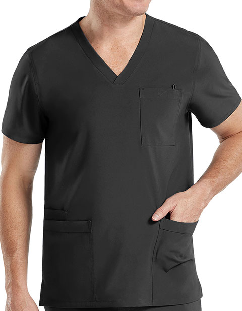 Med Couture Activate Men's Performance 4 Pocket Top