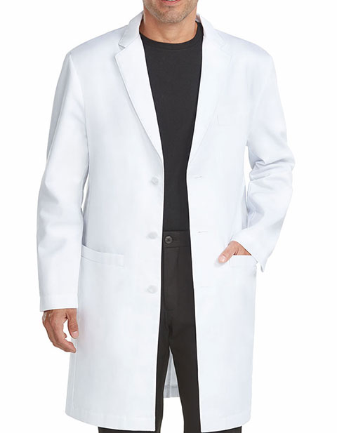 Med Couture Boutique Men's Tailored 38 Inches Length Lab coat