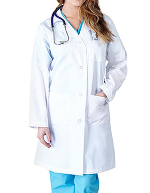Natural Uniforms Women Four Buttons Lab Coat