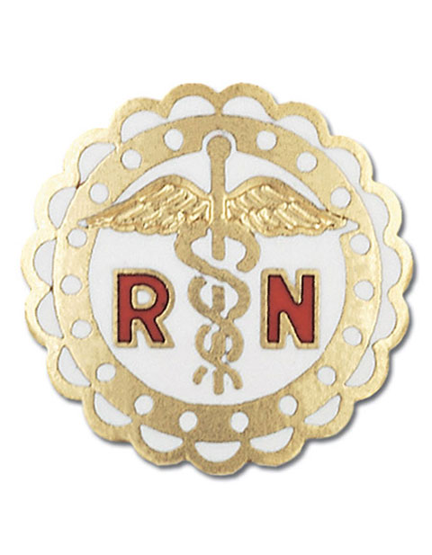 Prestige Handmade Gold Plated Registered Nurse Pin