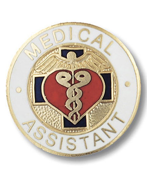 Prestige Handmade Gold Plated Medical Assistant Emblem Pin
