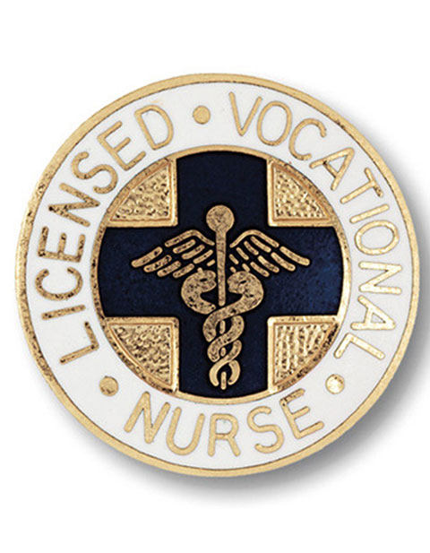 Prestige Gold Plated Licensed Vocational Nurse Emblem Pin