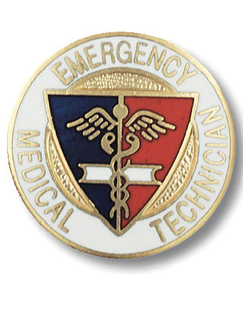 Prestige Emergency Medical Technician Gold Plated Pin