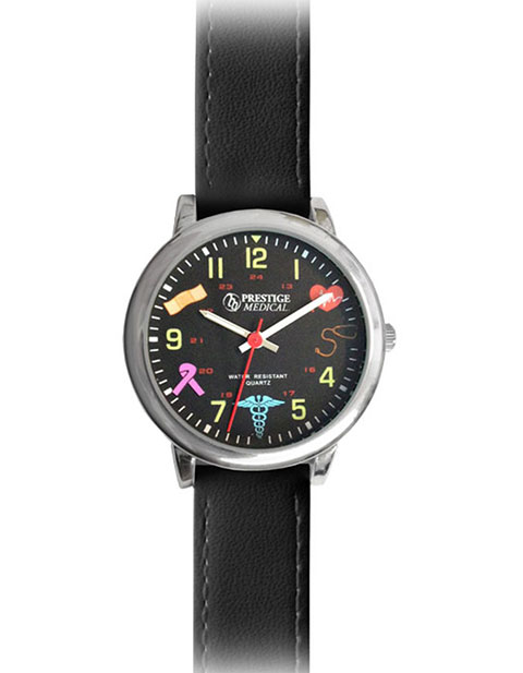 Prestige Medical Symbols Leather Watch