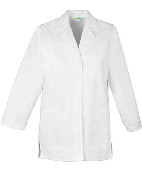 PU Made To Order Three Quarter Sleeves Short Lab Coat